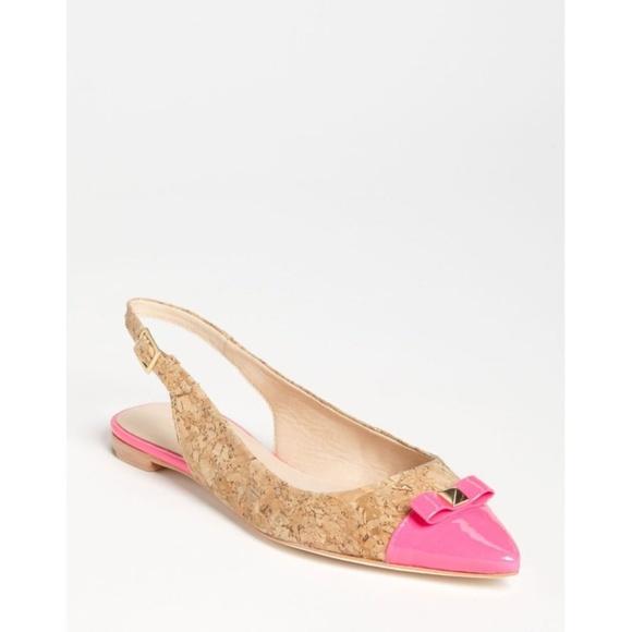 4017aa38b272 kate spade Shoes - Kate Spade Ginny Slingback Flat-Cork Pink - Sz 9.5